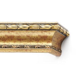Багетный карниз для штор Уффици цвет золото античное