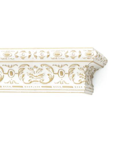 Багетный карниз Эрмитаж бело-золотой деревянный фото