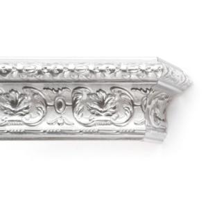 Багетный карниз Эрмитаж серебро деревянный фото