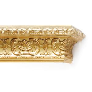 Багетный карниз Эрмитаж золото античное деревянный фото
