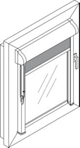 кассетная рулонная штора УНИ с п-образными направляющими