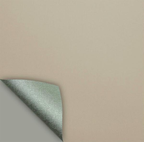 Рулонные кассетные шторы УНИ - Актуаль 187 Блэкаут серо-бежевый